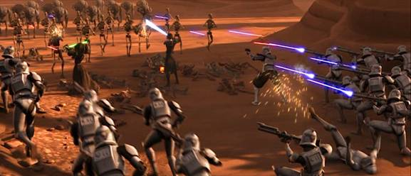"Clone Troopers at Geonosis ""Thumbs Up, let's do this...Leeroy Jen..GAH"""
