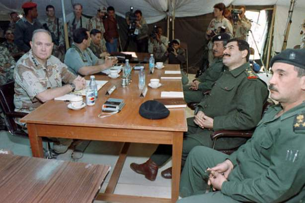 The surrender than ended the Persian Gulf War