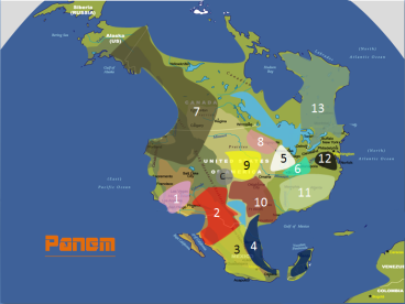 A fan-made map of Panem by Helmet 31