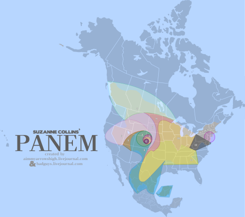 A map of Panem by AimArrowsHigh