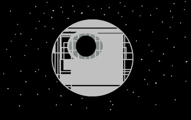 An abstracted Death Star by Eu mesmo
