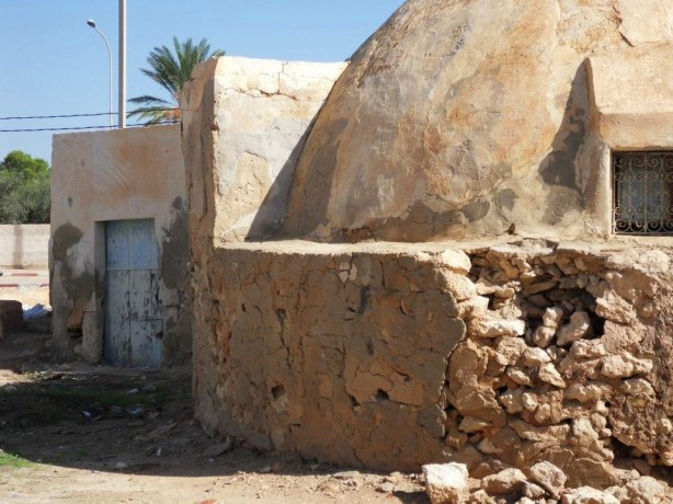 An image taken on a street in Ajim, Tunisia. The building in the photograph was the site of a STAR WARS film location in 1976. Photographed by Colin Kenworthy in October 2011.
